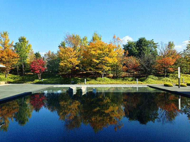 山梨県博の庭
