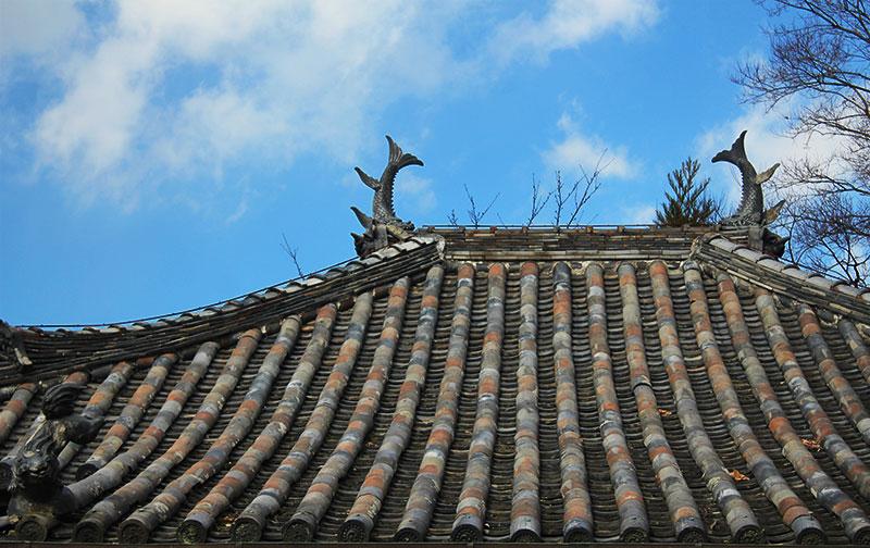 妙感寺本堂の屋根