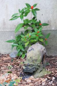 八坂神社背後の狛犬