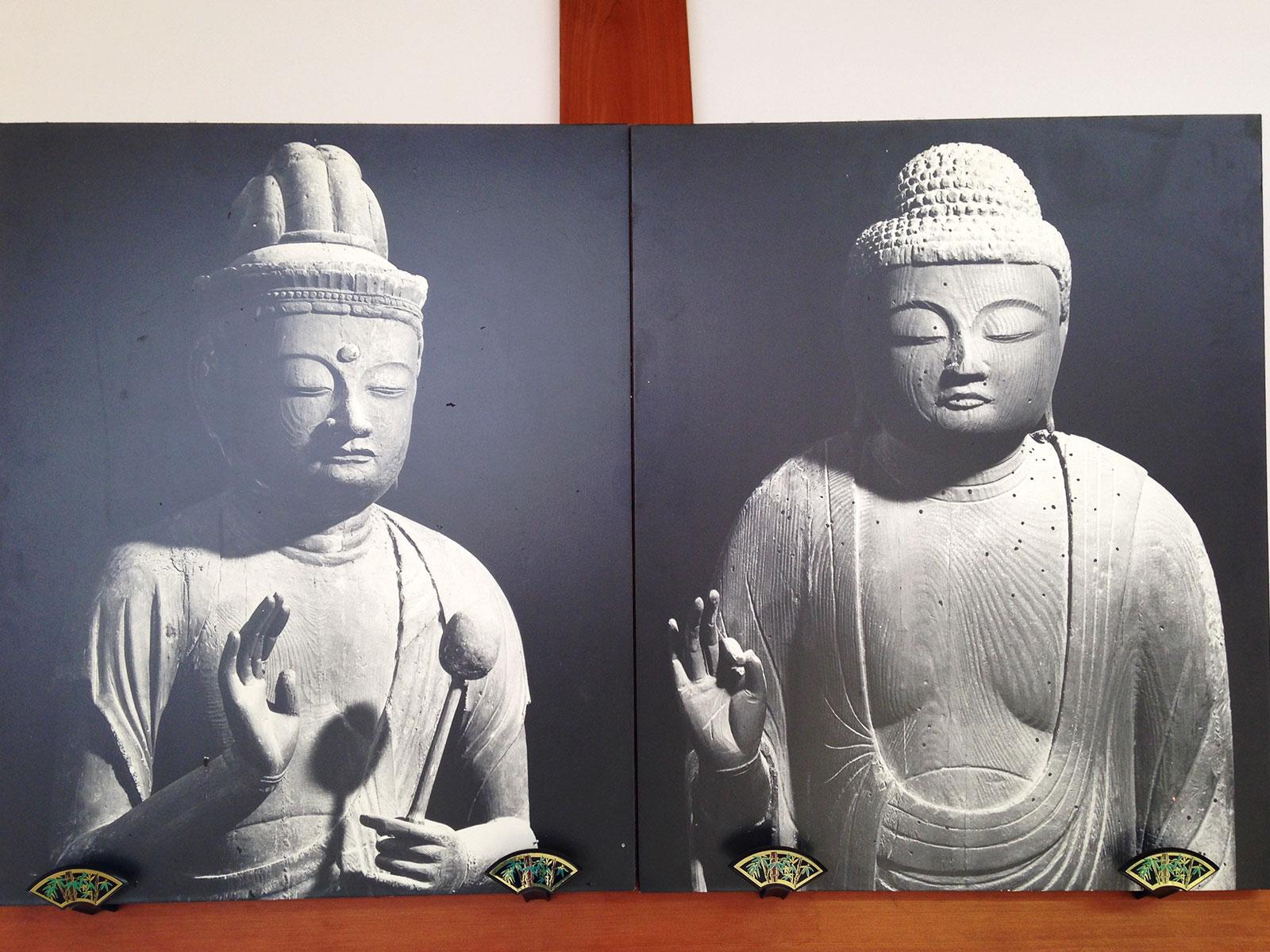 お寺に飾られていた写真