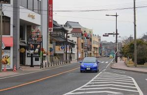 瑞巌寺前の道
