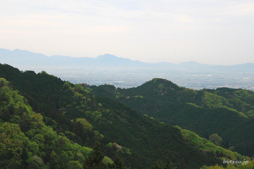 名阪国道・高峰SAから眺める大和盆地