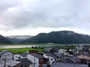 城崎の町と円山川
