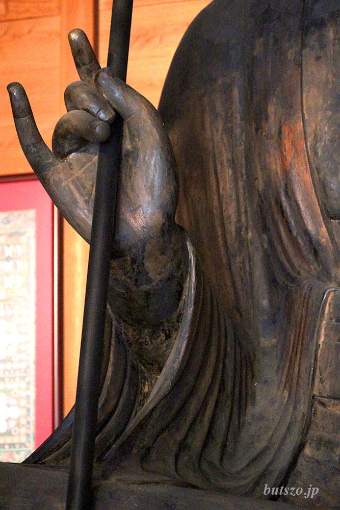 地蔵菩薩像 右手