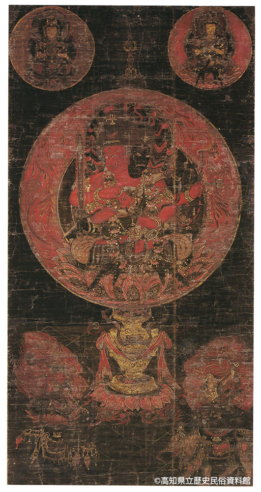両頭愛染曼荼羅図