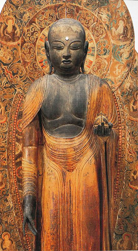 地蔵菩薩立像と室生寺光背