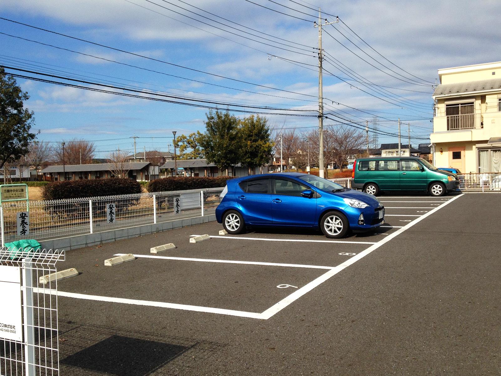 安養寺の駐車場