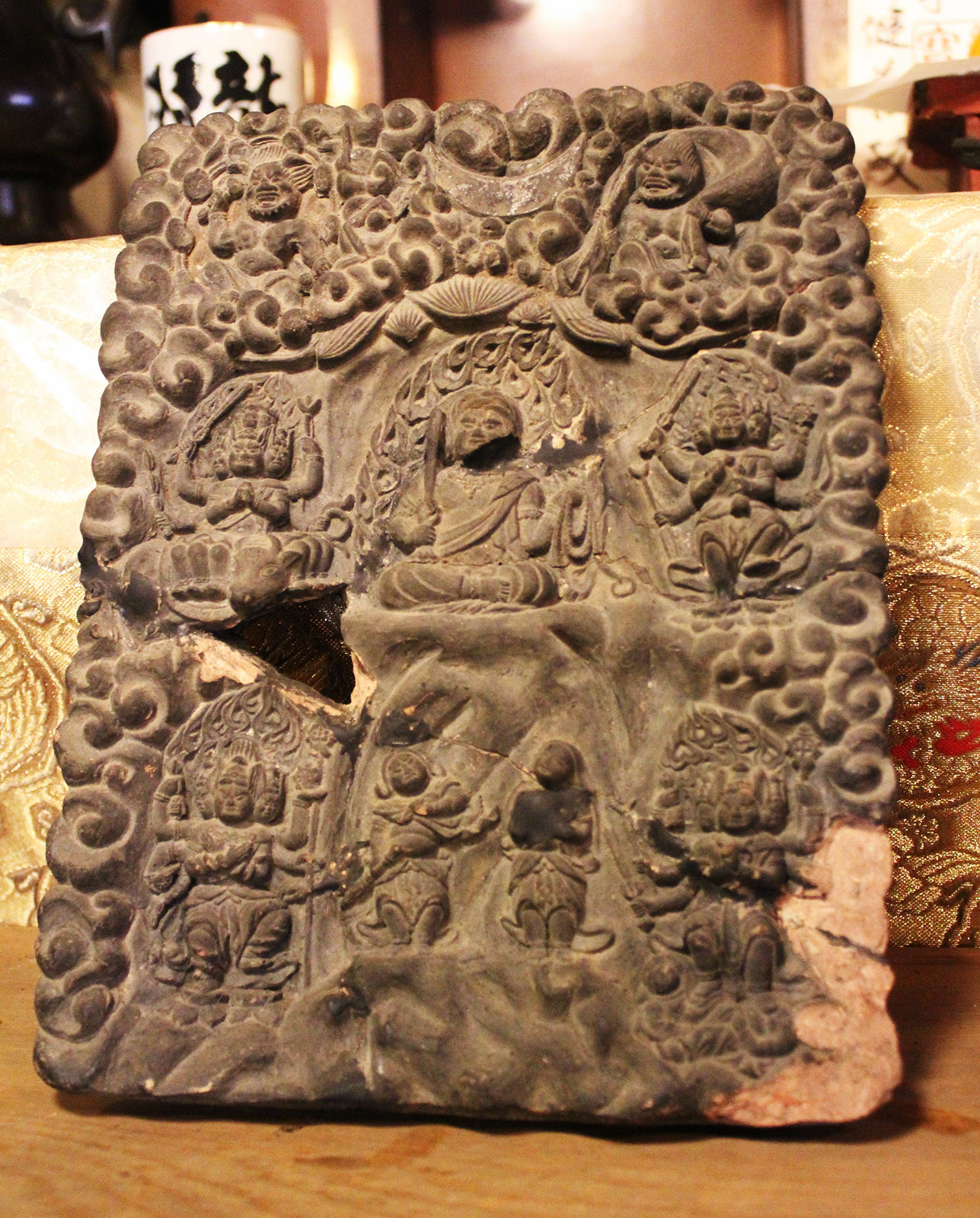 磚製五大明王像